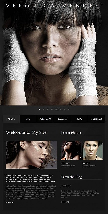 ADOBE Photoshop Template 45125 Home Page Screenshot