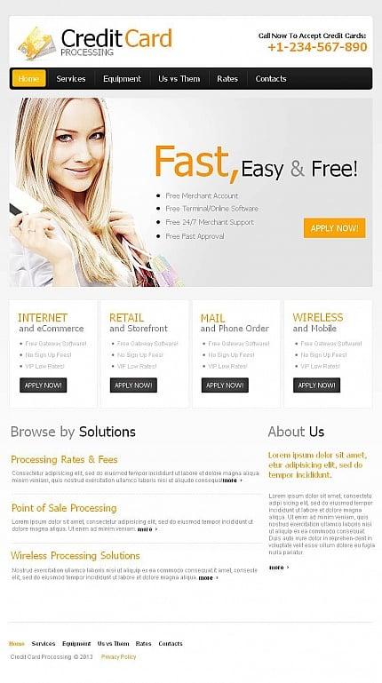 ADOBE Photoshop Template 45133 Home Page Screenshot