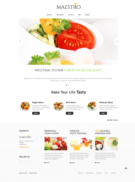 Cafe And Restaurant Website Template Website Templates