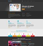 Science Website  Template 45140