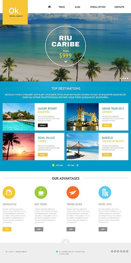 Joomla Theme/Template 45159 Main Page Screenshot