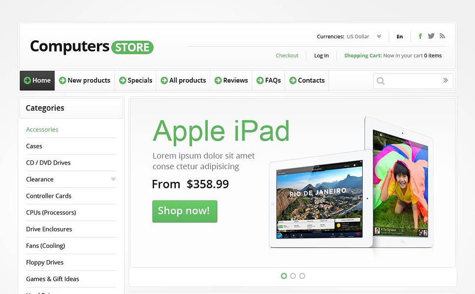 ZenCart šablona Počítačový obchod New Screenshots BIG
