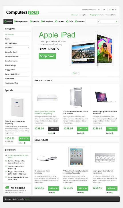 ZenCart Template 45165 Main Page Screenshot
