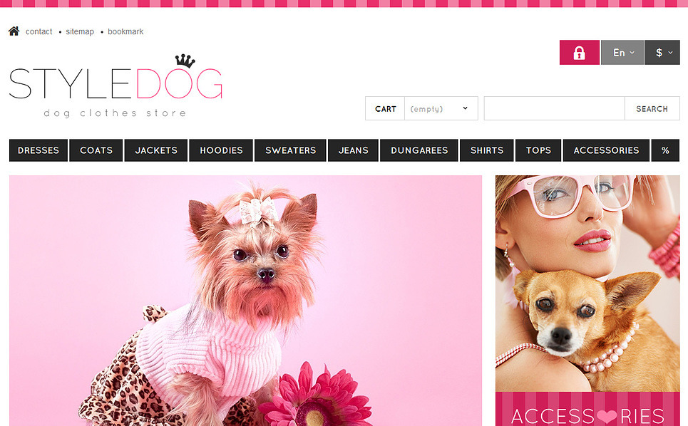 Responsive Köpek  Prestashop Teması New Screenshots BIG