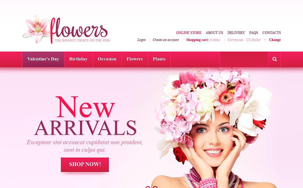 Szablon VirtueMart #45171 na temat: kwiaciarnia New Screenshots BIG