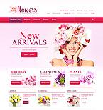 Flowers VirtueMart  Template 45171