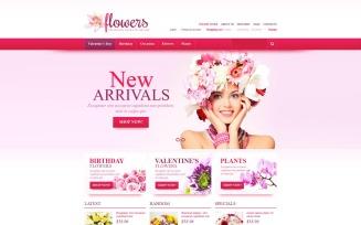 Fresh Flowers VirtueMart Template
