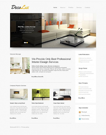 ADOBE Photoshop Template 45177 Home Page Screenshot