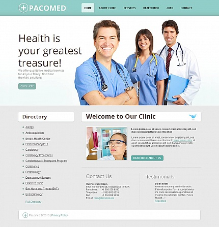 ADOBE Photoshop Template 45179 Home Page Screenshot