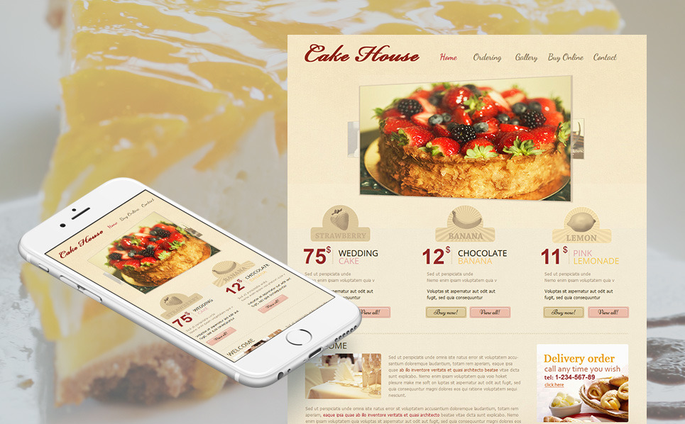 Moto CMS HTML Vorlage für Süßwarengeschäft  New Screenshots BIG