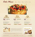 Food & Drink Moto CMS HTML  Template 45181