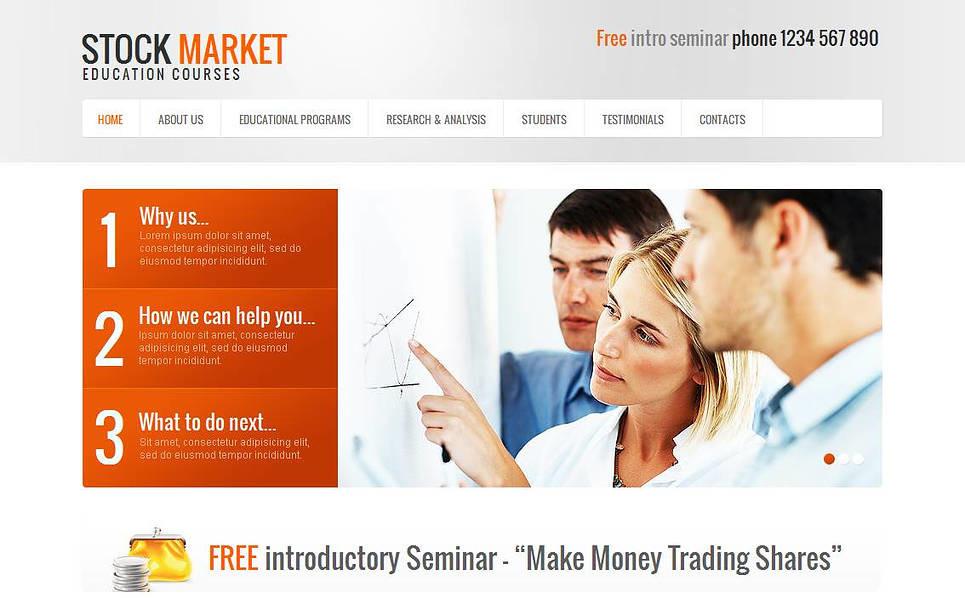 Moto CMS HTML Vorlage für Wirtschaftshochschule  New Screenshots BIG
