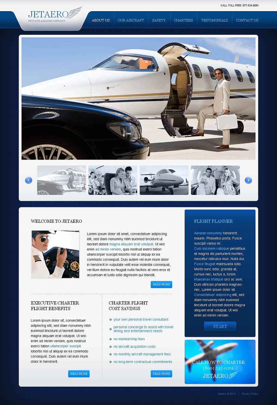 Airline Company Website Template with a Photo Gallery - image