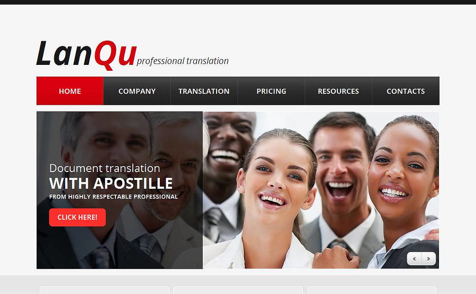 Template Moto CMS HTML para Sites de Agencia de Traduções №45188 New Screenshots BIG