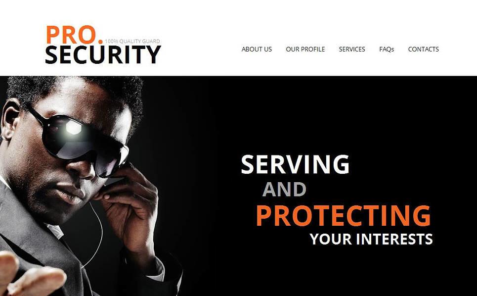 Szablon Moto CMS HTML #45191 na temat: bezpieczeństwo New Screenshots BIG