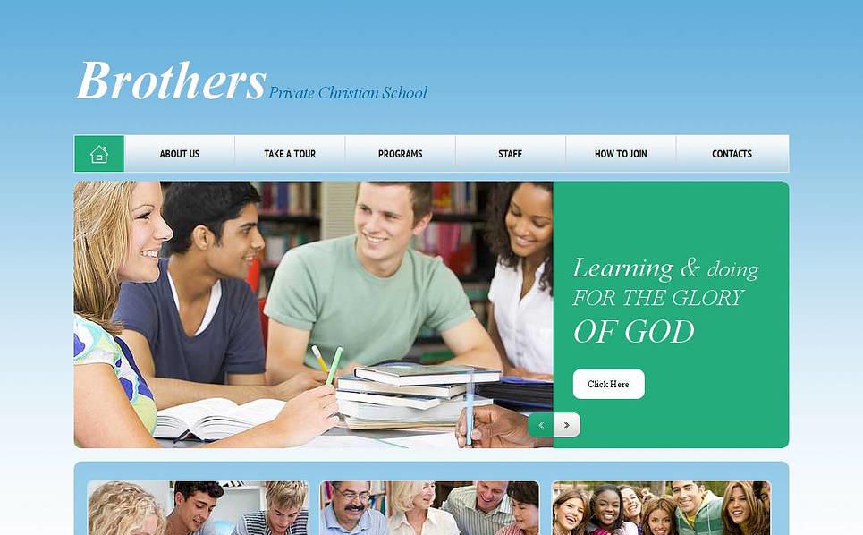 Modello Moto CMS HTML  #45194 per Un Sito di Scuola Religiosa New Screenshots BIG