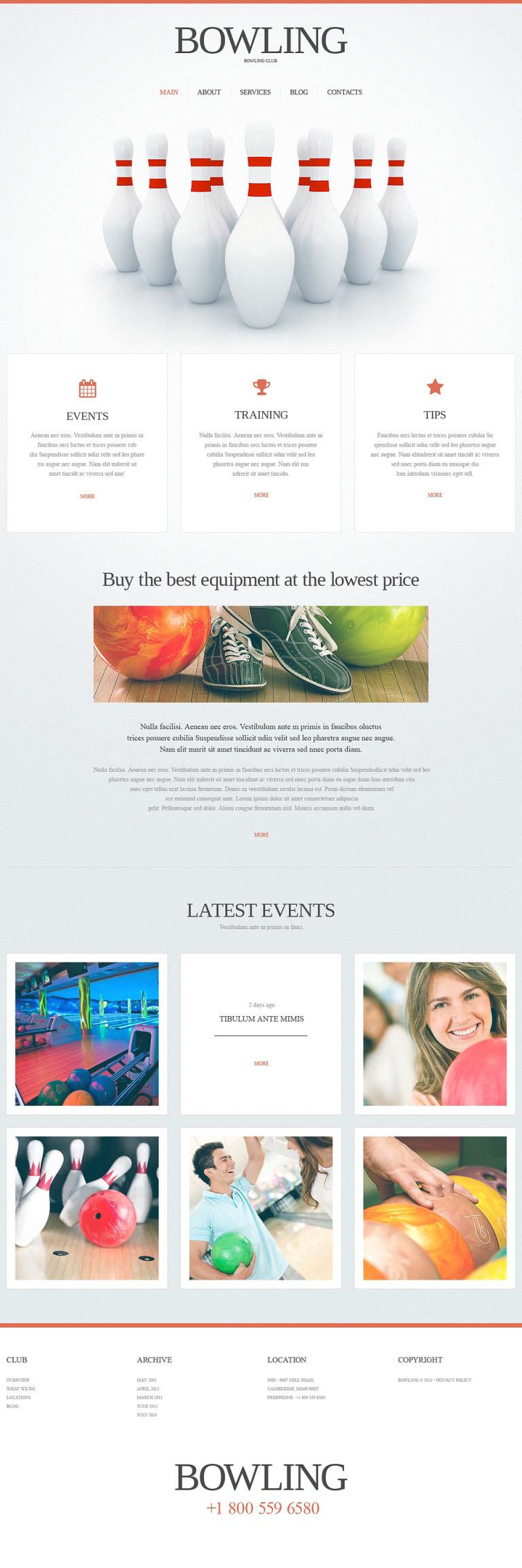 Bowling Responsive Website Template New Screenshots BIG
