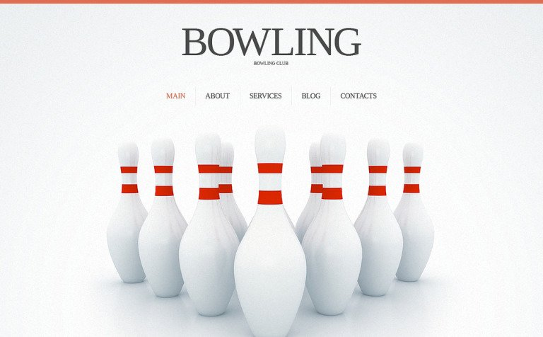 bowling responsive website template 45153