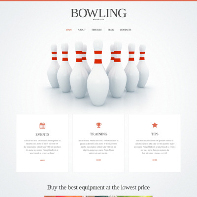 bowling templates templatemonster