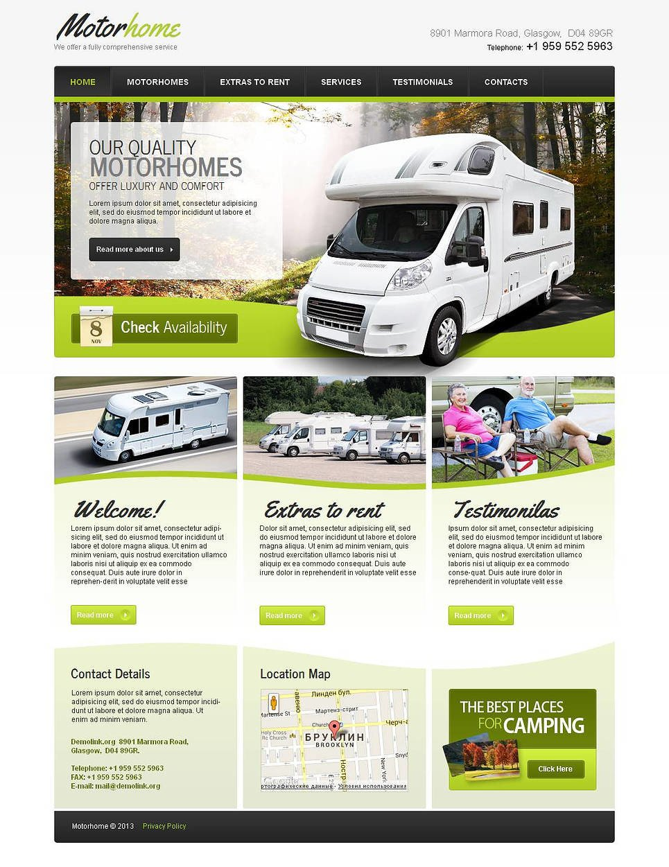 Camping Moto CMS HTML Template New Screenshots BIG