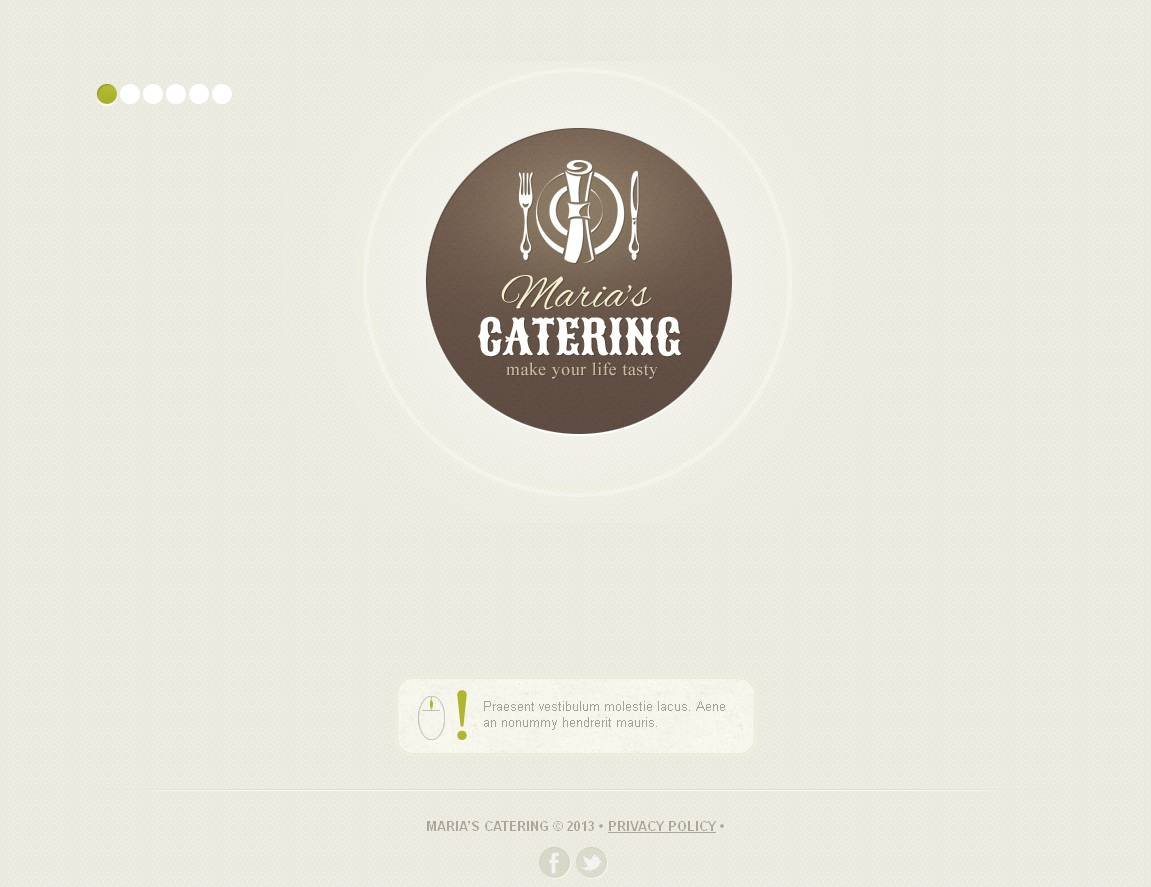 Catering Moto CMS HTML Template