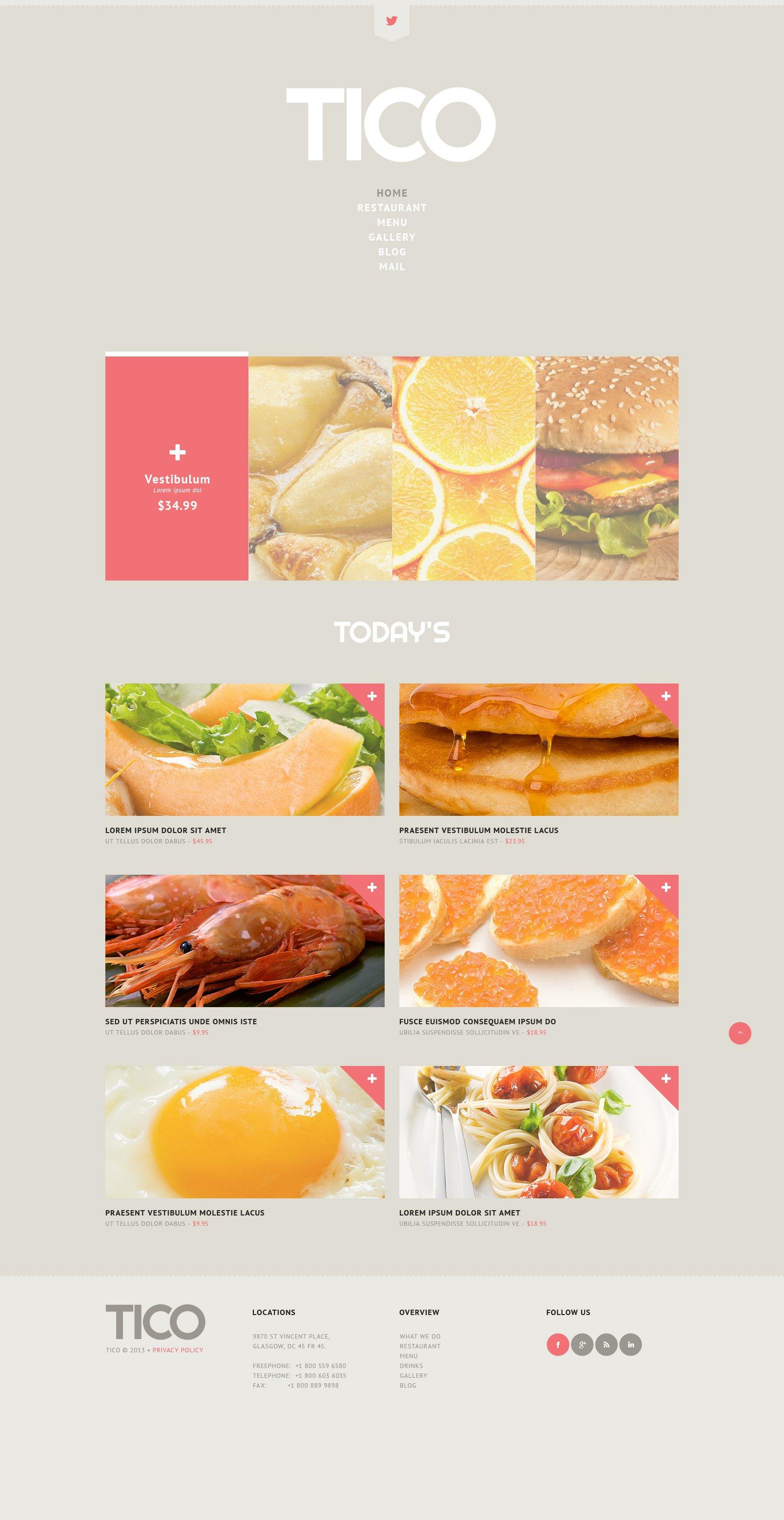 European Restaurant Tema WordPress №45147 - screenshot