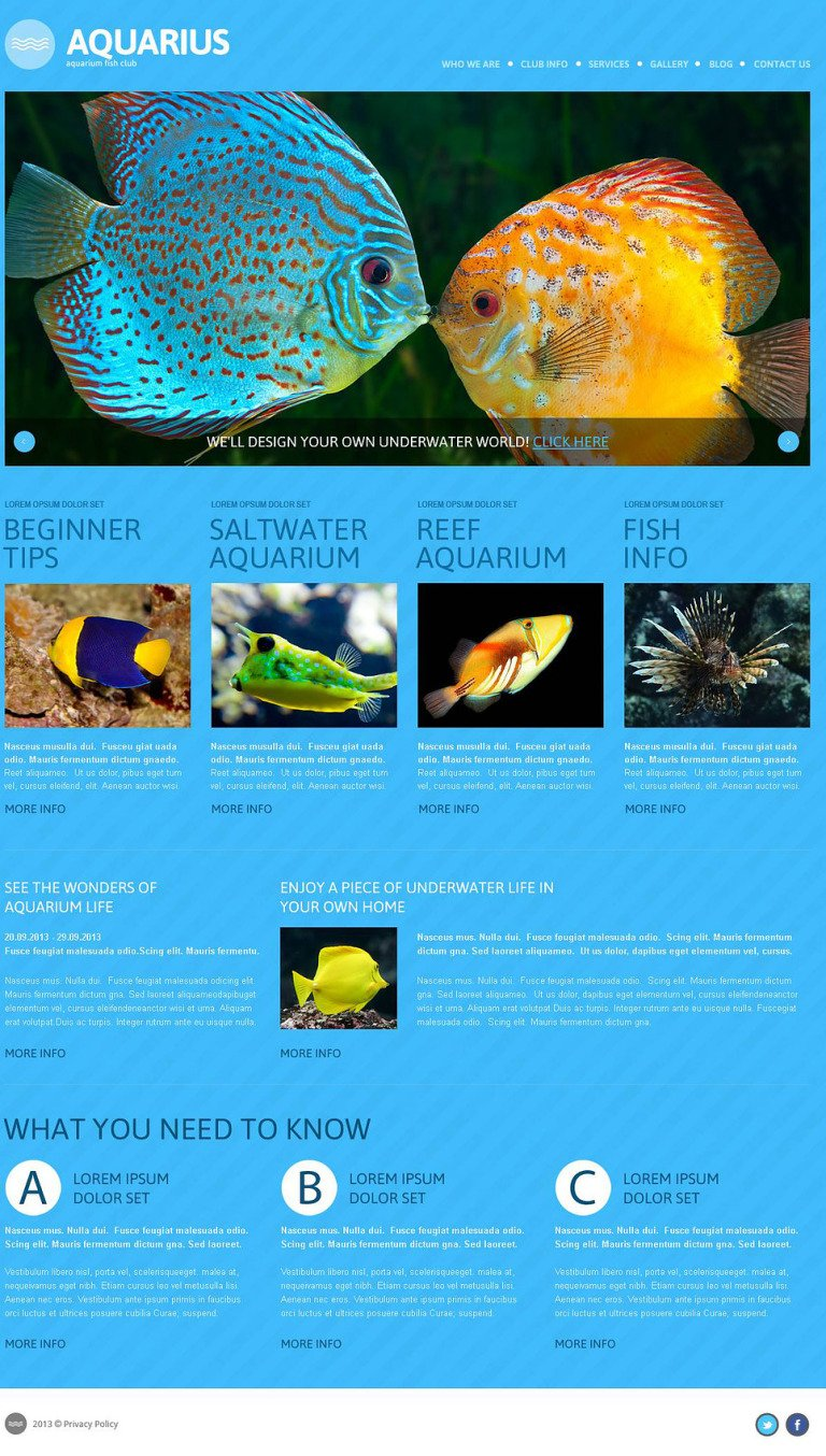 Fish Responsive WordPress Theme New Screenshots BIG