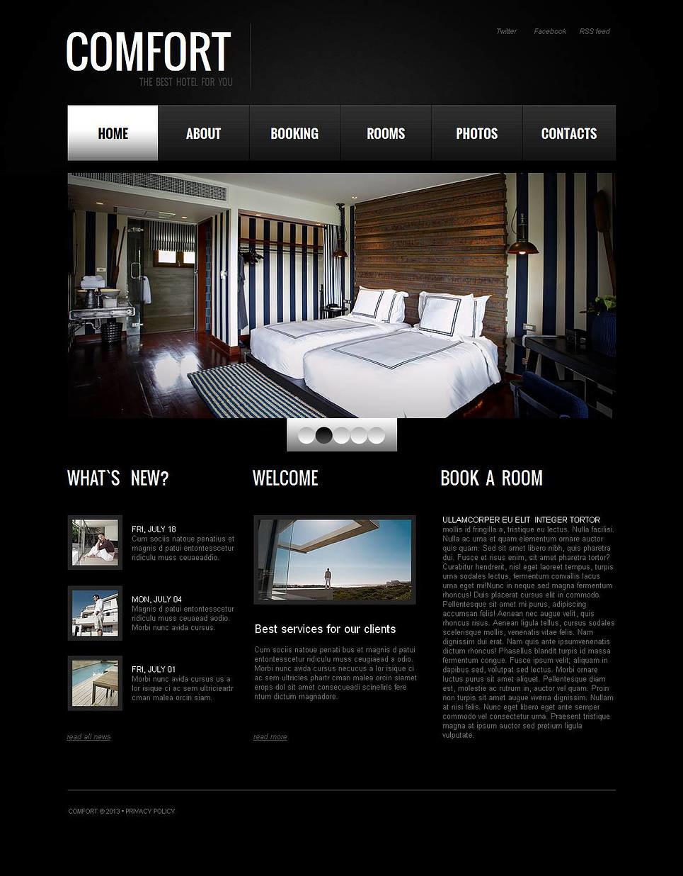 Hotel Reviews Moto CMS HTML Template New Screenshots BIG