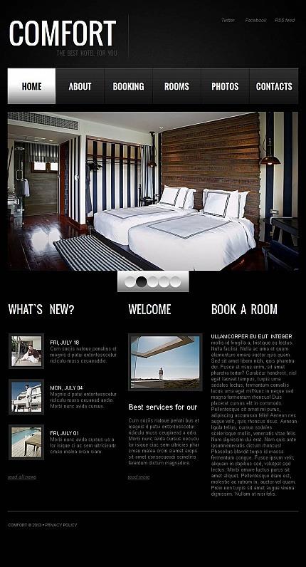 Hotels Facebook HTML CMS Template Facebook Screenshot