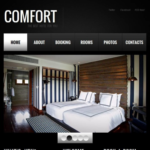 Comfort - Facebook HTML CMS Template