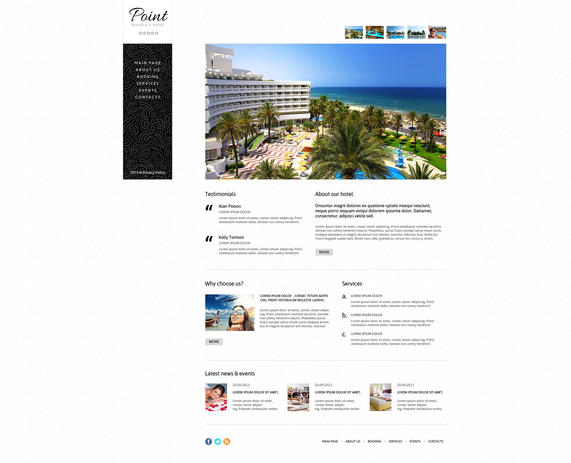 Hotels responsive joomla template 45157 for Joomla hotel template