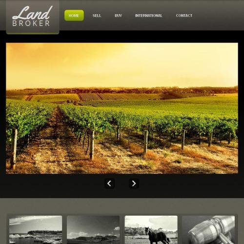 Land Broker - Facebook HTML CMS Template