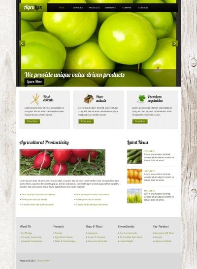 Modèle Moto CMS HTML  pour site agricole