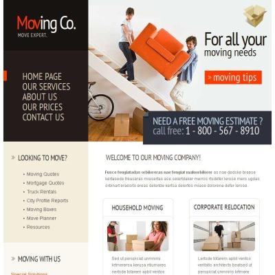 moving company templates templatemonster. Black Bedroom Furniture Sets. Home Design Ideas