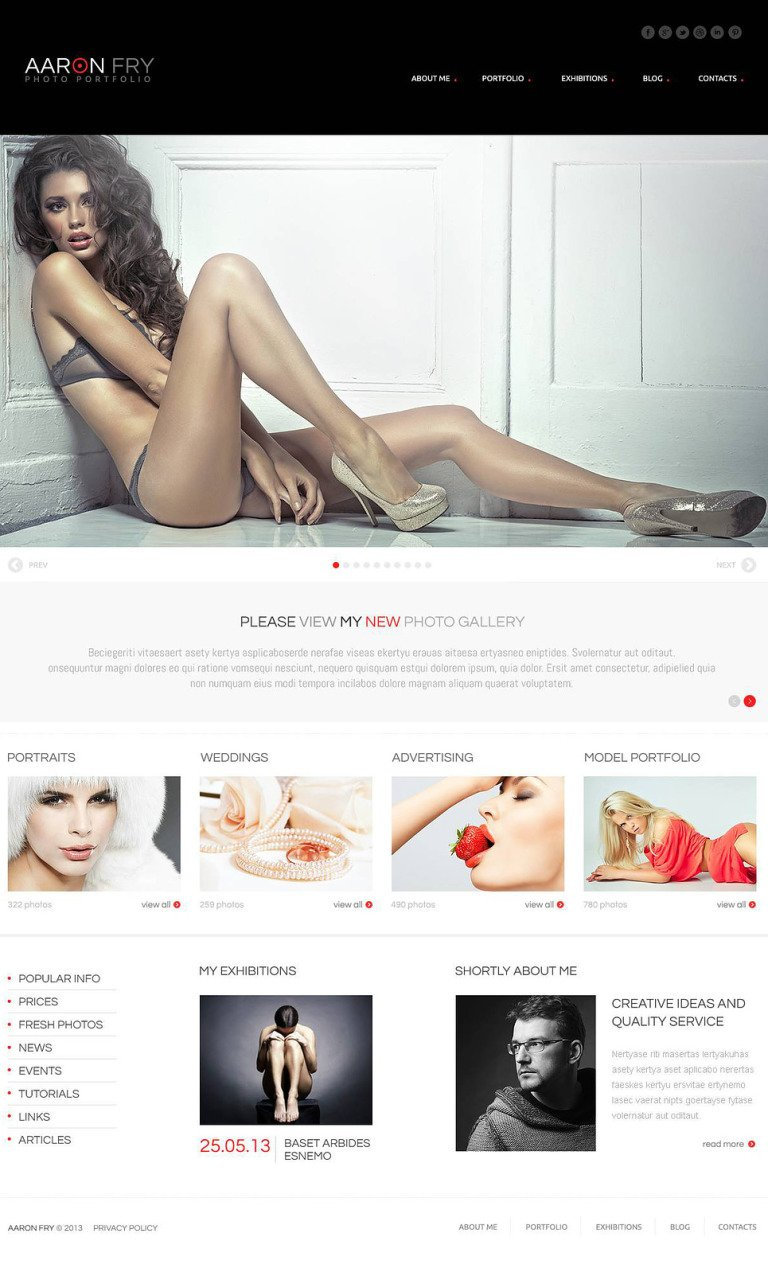 Photographer Folio WordPress Theme New Screenshots BIG