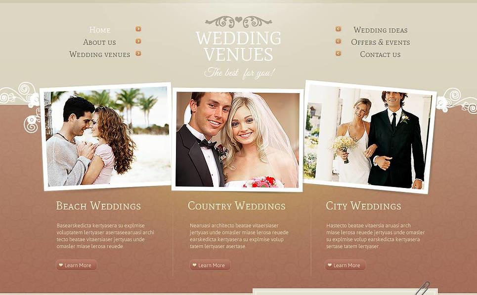 Plantilla Moto CMS HTML #45109 para Sitio de Lugares de la boda New Screenshots BIG