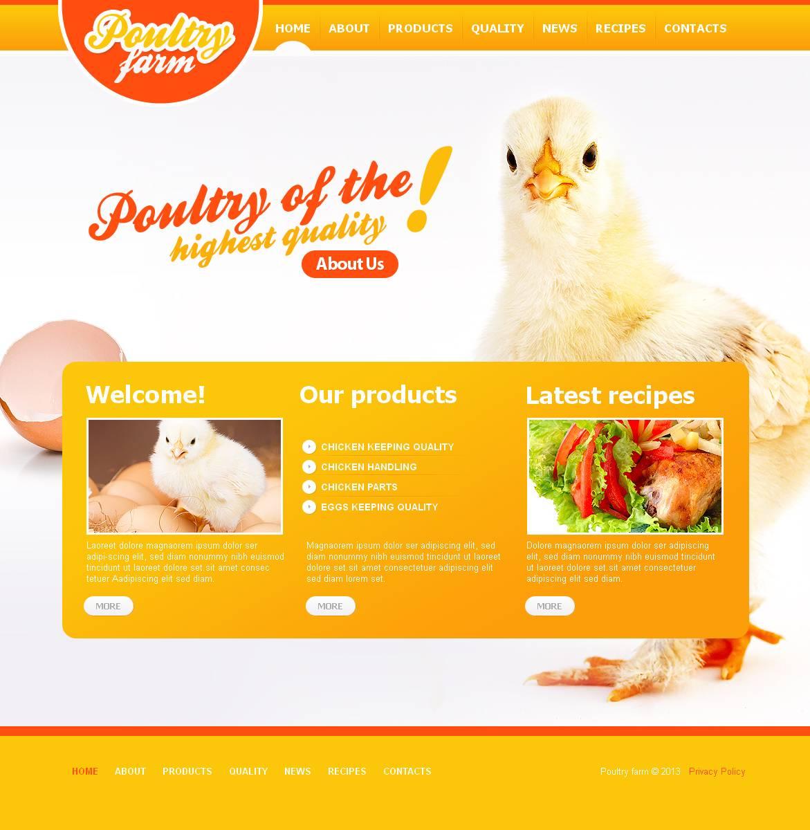 Poultry Farm Moto CMS HTML Template #45113
