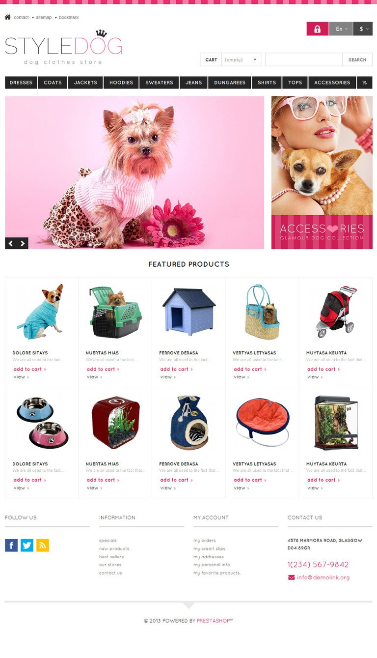 Responsive Dog Style Store PrestaShop Theme New Screenshots BIG