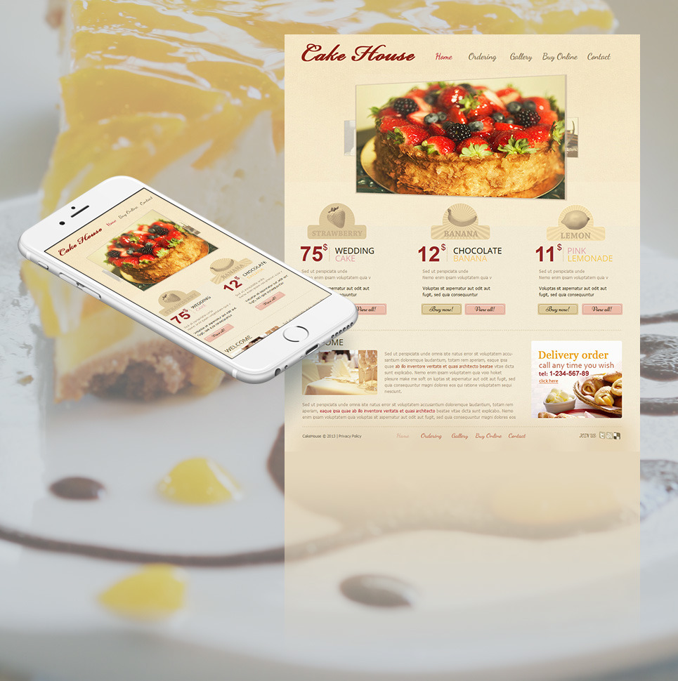 Sweet Shop Moto CMS HTML Template New Screenshots BIG