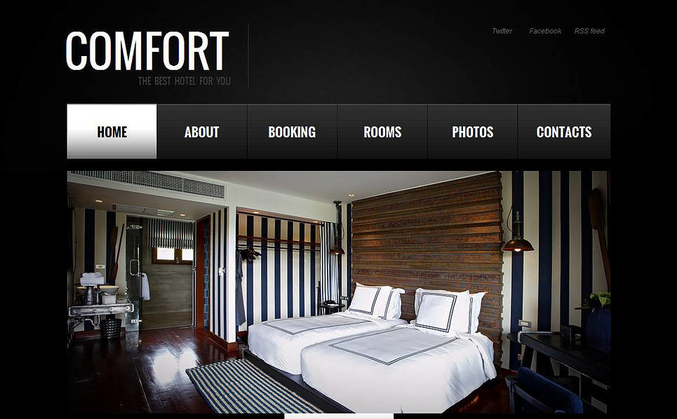 Szablon Moto CMS HTML #45180 na temat: recenzje hotelowe New Screenshots BIG