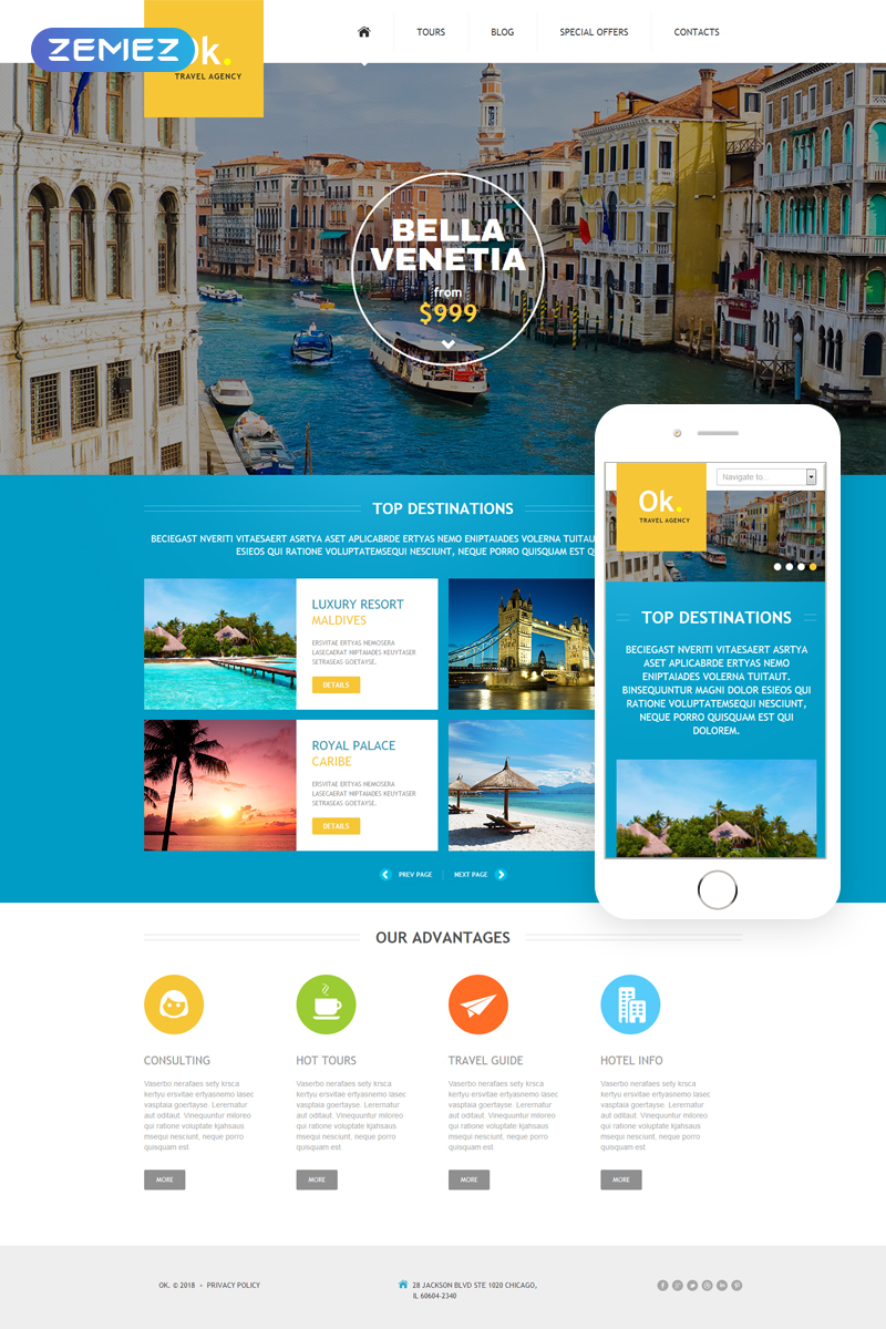 Travel Company Joomla Template - screenshot