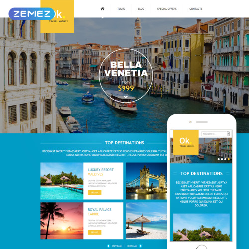 Ok Travel Agency - Joomla! Template based on Bootstrap