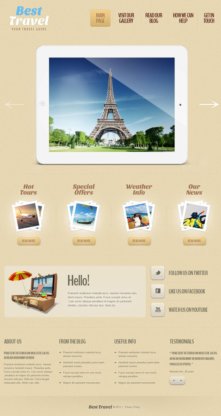 Travel Guide Responsive WordPress Theme New Screenshots BIG