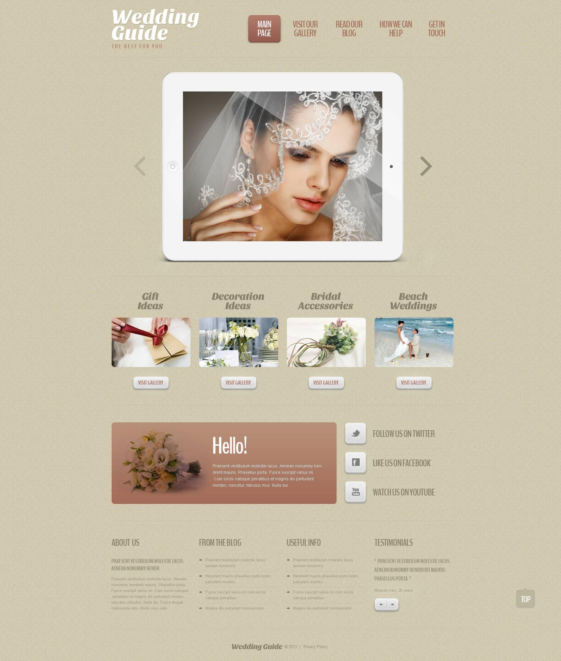 Wedding Planner Responsive WordPress Theme #45146