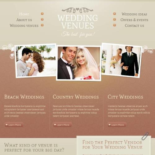 Wedding Venues - Facebook HTML CMS Template