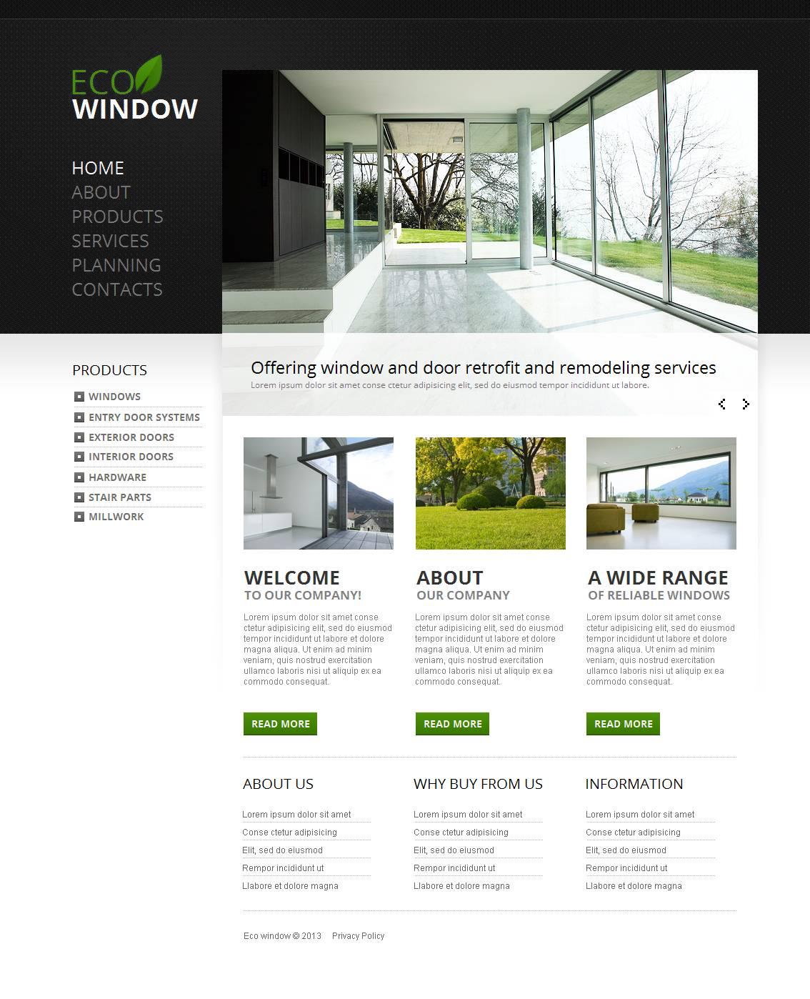 Window Moto CMS HTML Template