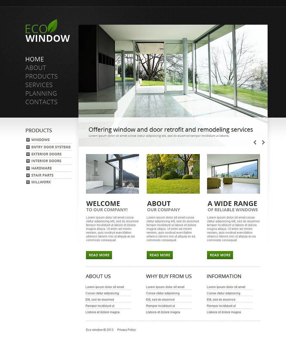 Windows & Doors Moto CMS HTML Template New Screenshots BIG
