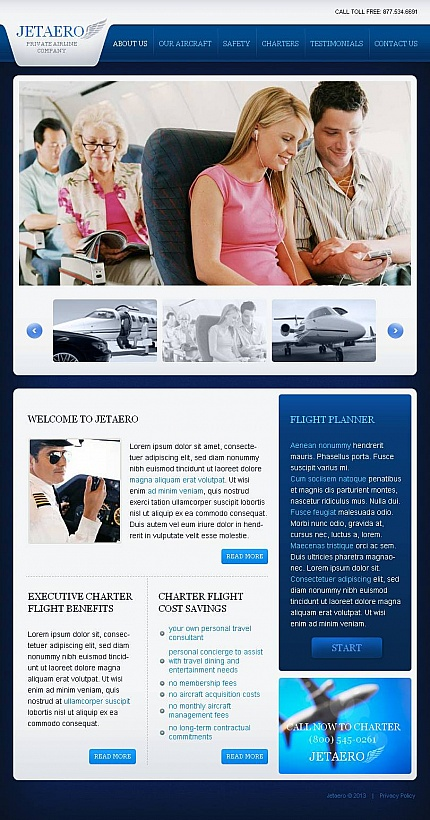 ADOBE Photoshop Template 45201 Home Page Screenshot