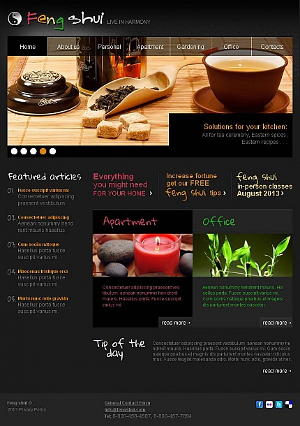 ADOBE Photoshop Template 45204 Home Page Screenshot