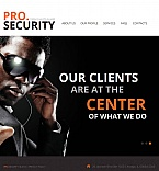 Security Facebook HTML CMS  Template 45208